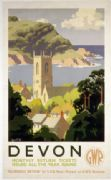 Glorious Devon. GWR Vintage Travel poster by Alker Tripp. c1930